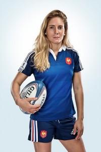 Marjorie Mayans en tenue Équipe de France Féminine de Rugby à 7