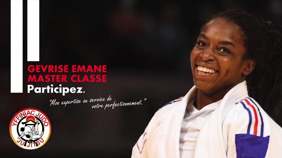 Affiche 20 ans Yffiniac Judo Club avec Gévrise Émane